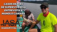 Casos de supervivencia real, entrevista a Manolo Camara.